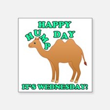 "Happy Hump Day is Wednesday Square Sticker 3"" x 3"""