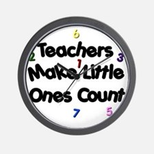 Teacher Count Wall Clock