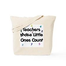 Teacher Count Tote Bag