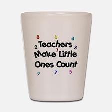 Teacher Count Shot Glass