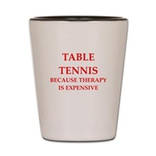 table tennis Shot Glass