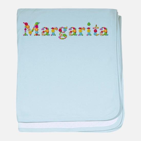 Margarita Bright Flowers baby blanket