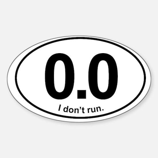 0.0 Sticker (Oval)