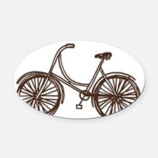 Bicycle Oval Car Magnet