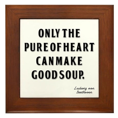 Good Soup Framed Tile