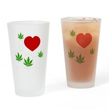 weed cannabis 420 t-shirt Drinking Glass