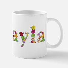 Makayla Bright Flowers Mugs