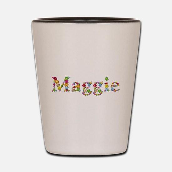 Maggie Bright Flowers Shot Glass