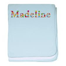 Madeline Bright Flowers baby blanket
