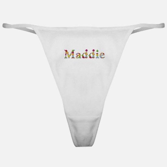 Maddie Bright Flowers Classic Thong