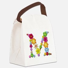 M Bright Flowers Canvas Lunch Bag