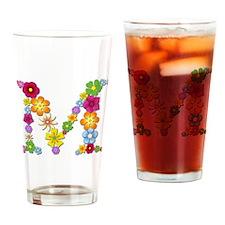 M Bright Flowers Drinking Glass
