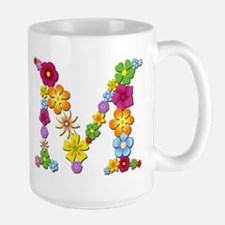 M Bright Flowers Mugs