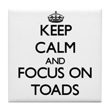 Keep calm and focus on Toads Tile Coaster