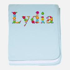 Lydia Bright Flowers baby blanket