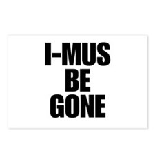I-MUS Be Gone Postcards (Package of 8)