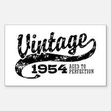 Vintage 1954 Sticker (Rectangle)
