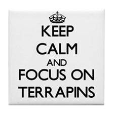 Keep calm and focus on Terrapins Tile Coaster
