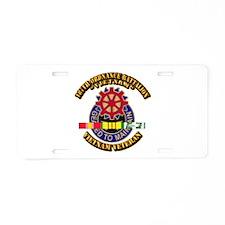 187th Ordnance Bn w SVC Ribbon Aluminum License Pl