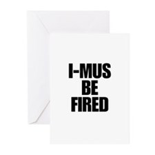 I-MUS Be Fired Greeting Cards (Pk of 10)