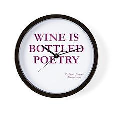 Wine Poetry Wall Clock