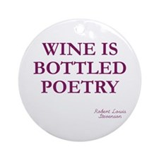 Wine Poetry Ornament (Round)