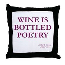 Wine Poetry Throw Pillow