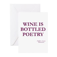 Wine Poetry Greeting Cards (Pk of 10)