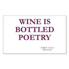 Wine Poetry Rectangle Decal