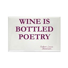 Wine Poetry Rectangle Magnet