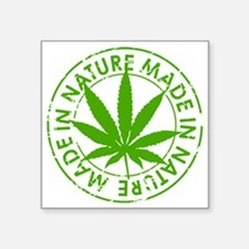"weed cannabis 420 t-shirt Square Sticker 3"" x 3"""