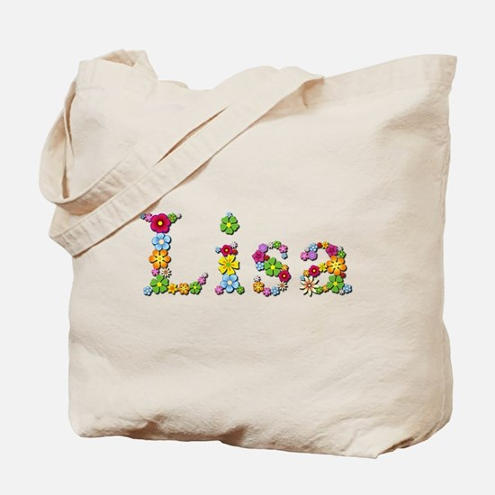 Lisa Bright Flowers Tote Bag