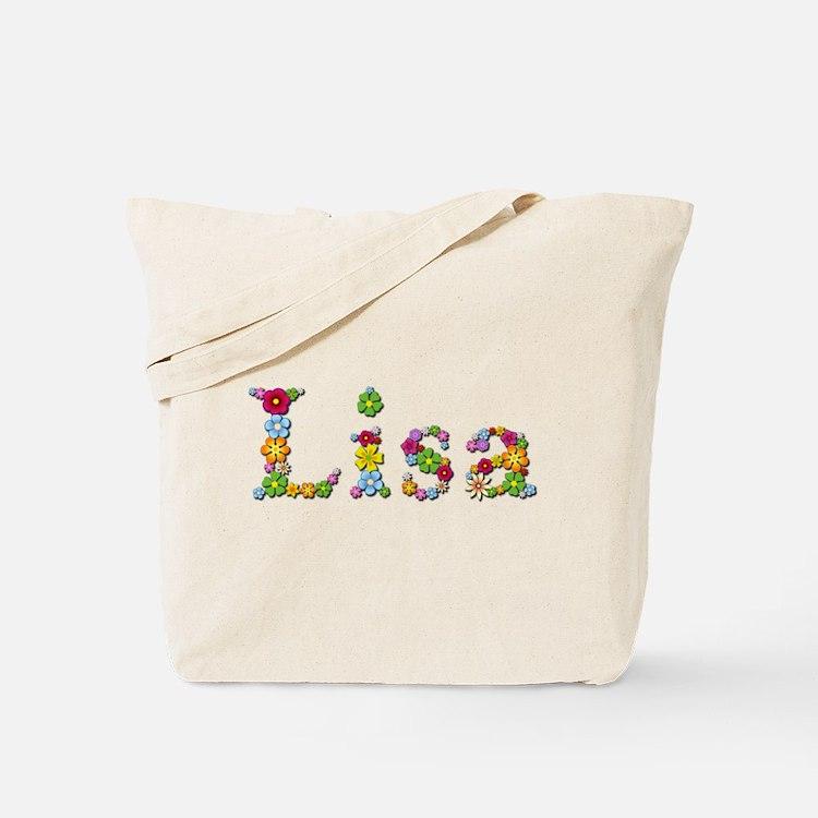 Lisa Bright Flowers Tote Bag
