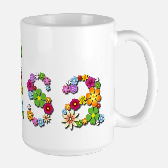 Lisa Bright Flowers Mugs