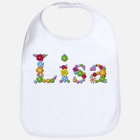 Lisa Bright Flowers Bib