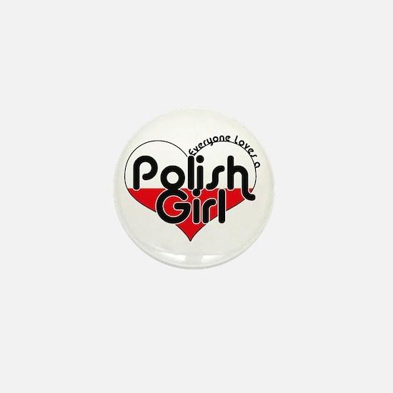 Cute Heart flag Mini Button