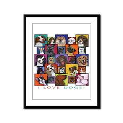 I Love Dogs! Framed Panel Print