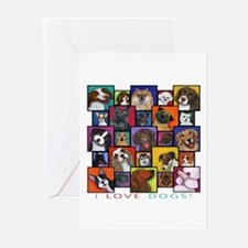 I Love Dogs! Greeting Cards (Pk of 10)