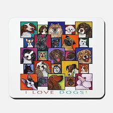 I Love Dogs! Mousepad