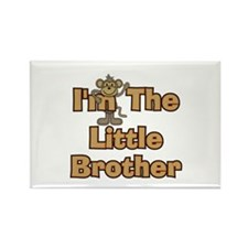 Little Brother Monkey Rectangle Magnet