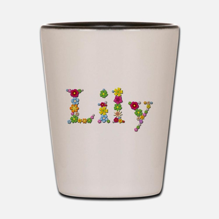 Lily Bright Flowers Shot Glass