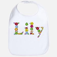 Lily Bright Flowers Bib