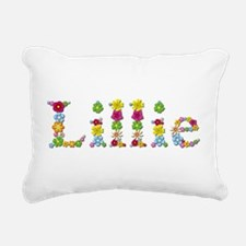 Lillie Bright Flowers Rectangular Canvas Pillow