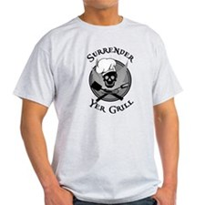 Surrender Yer Grill Black T-Shirt