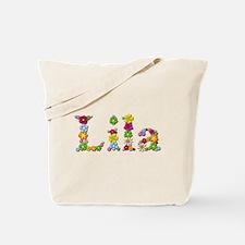 Lila Bright Flowers Tote Bag