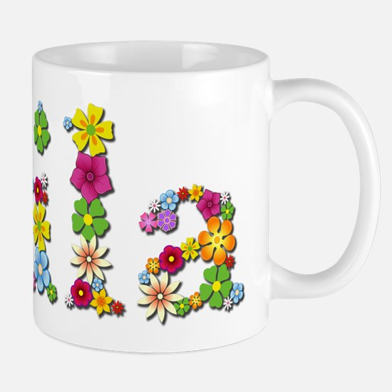 Lila Bright Flowers Mugs