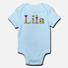 Lila Bright Flowers Body Suit