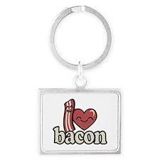 I Heart Bacon Keychains