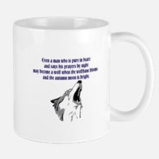 werewolf (blue writing) Mugs