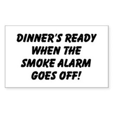 Dinner's Ready Rectangle Decal